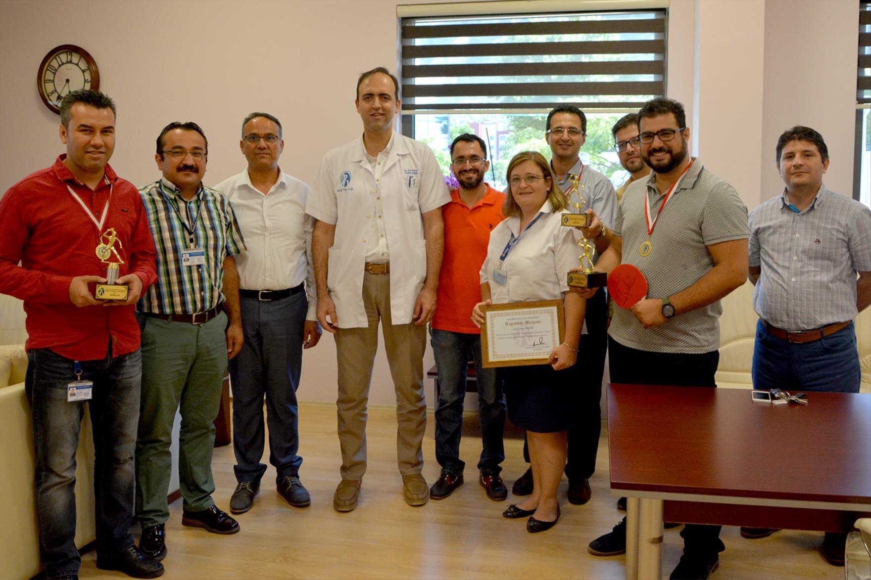 Pamukkale Üniversitesi Hastanesi'nde Gerçekleştirilen Masa Tenisi Turnuvası Sona Erdi 1. resim