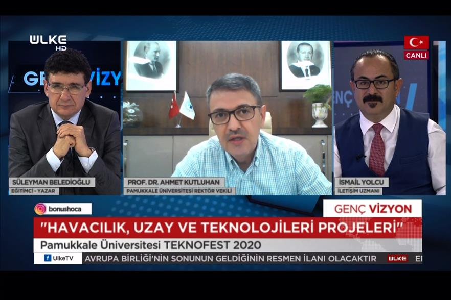 acting-rector-kutluhan-was-the-guest-of-young-vision-program-broadcasted-on-ulke-tv